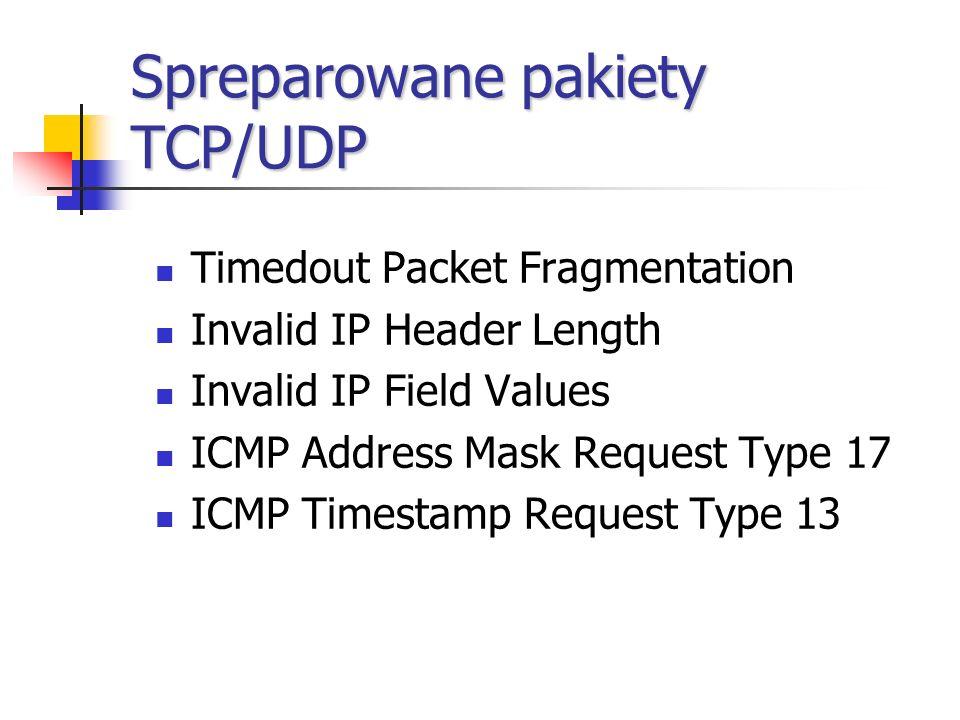 Spreparowane pakiety TCP/UDP