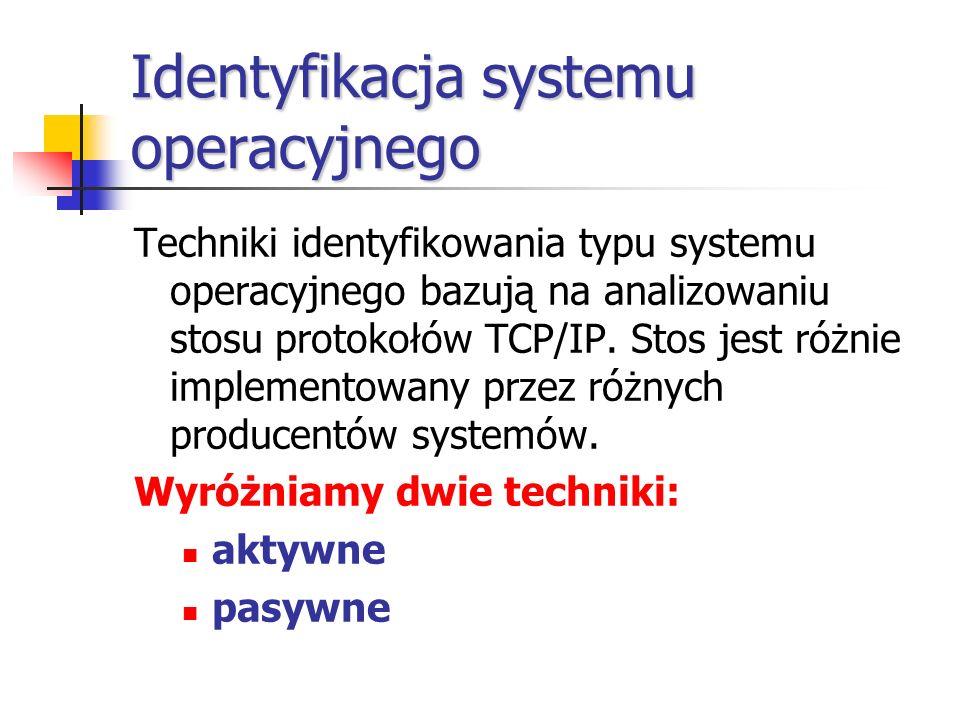 Identyfikacja systemu operacyjnego