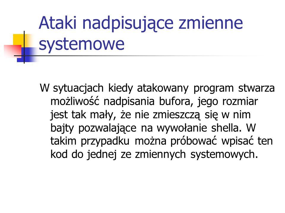 Ataki nadpisujące zmienne systemowe