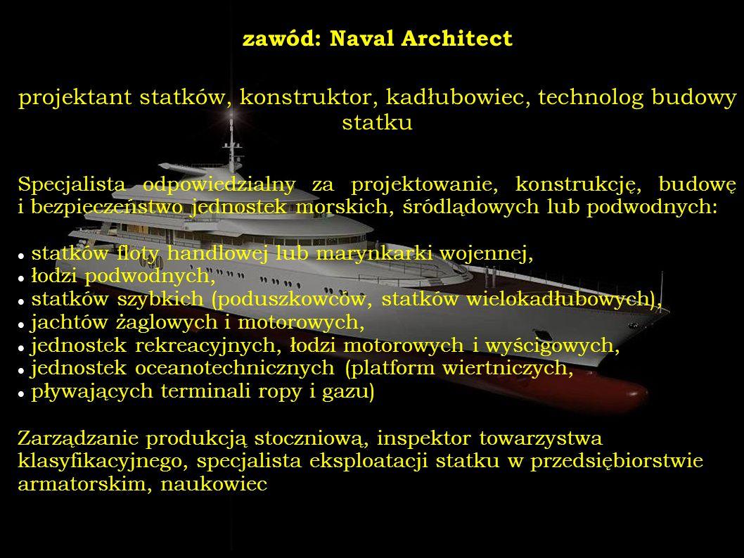 zawód: Naval Architect