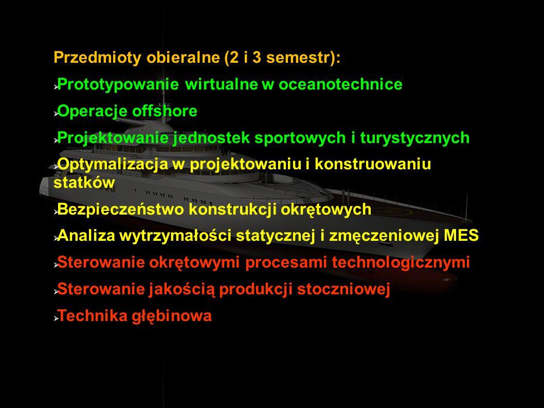 Przedmioty obieralne (2 i 3 semestr):