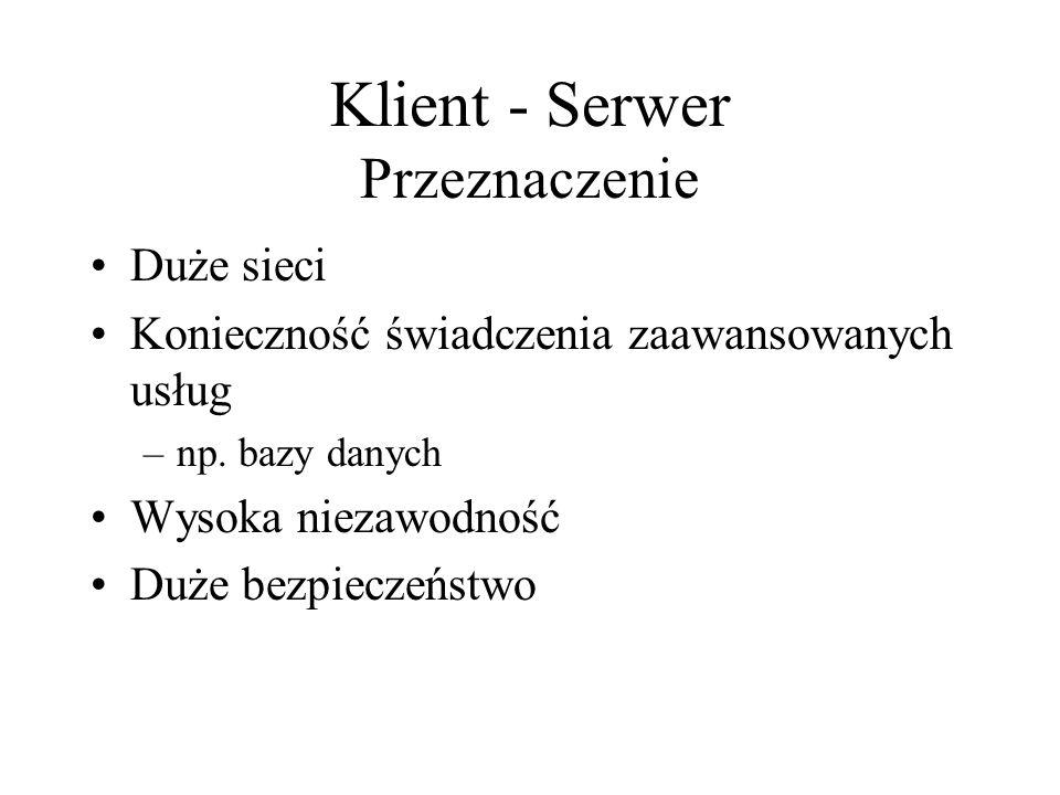 Klient - Serwer Przeznaczenie