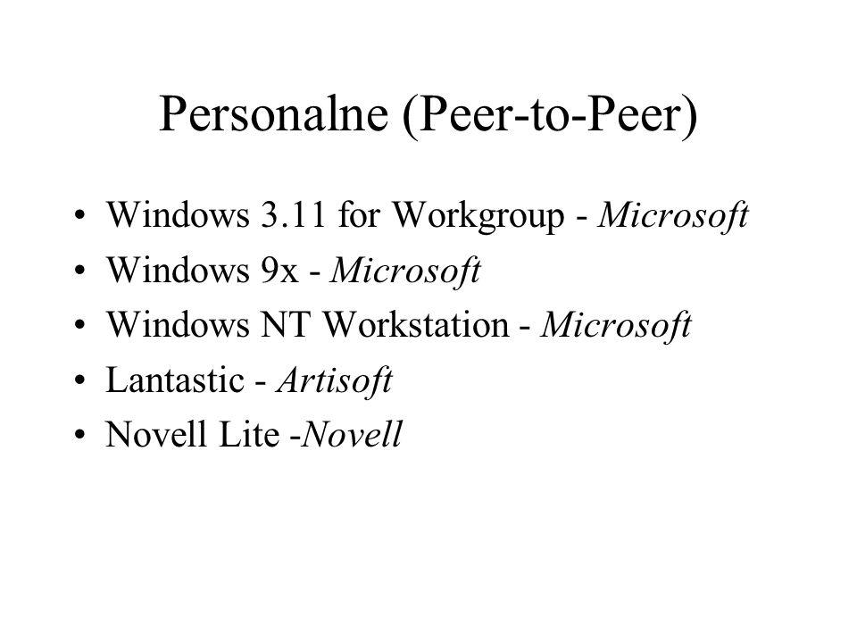 Personalne (Peer-to-Peer)