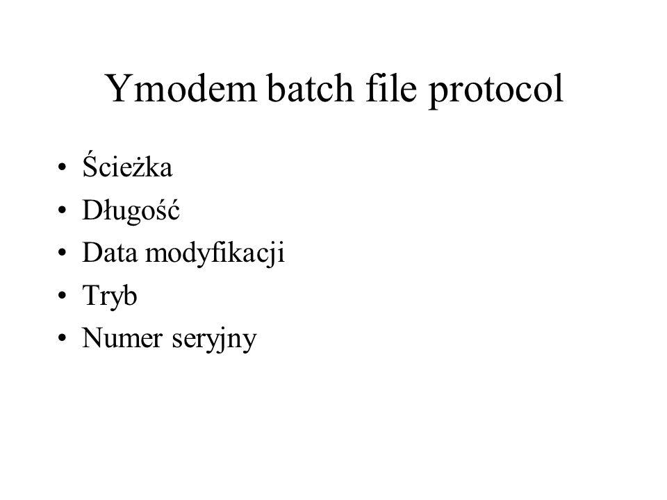 Ymodem batch file protocol