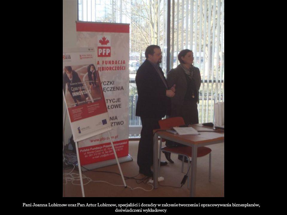 Pani Joanna Lubimow oraz Pan Artur Lubimow, specjaliści i doradcy w zakresie tworzenia i opracowywania biznesplanów, doświadczeni wykładowcy.