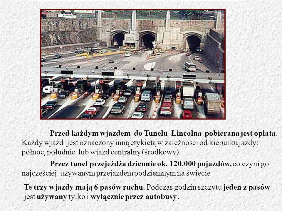 Przed każdym wjazdem do Tunelu Lincolna pobierana jest opłata