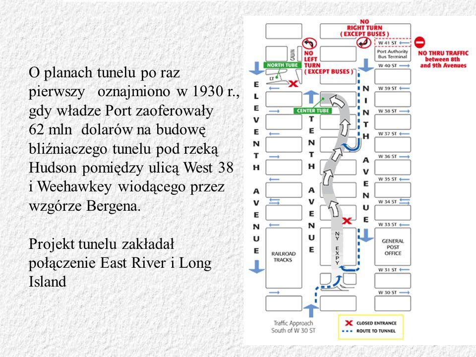 O planach tunelu po raz pierwszy oznajmiono w 1930 r