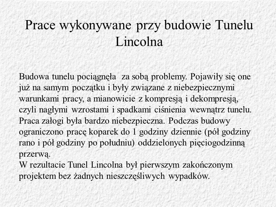 Prace wykonywane przy budowie Tunelu Lincolna