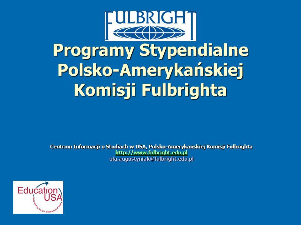 Programy Stypendialne Polsko-Amerykańskiej Komisji Fulbrighta