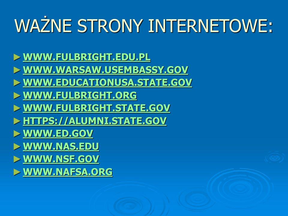 WAŻNE STRONY INTERNETOWE:
