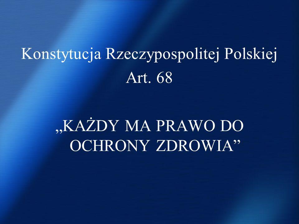 Konstytucja Rzeczypospolitej Polskiej Art. 68