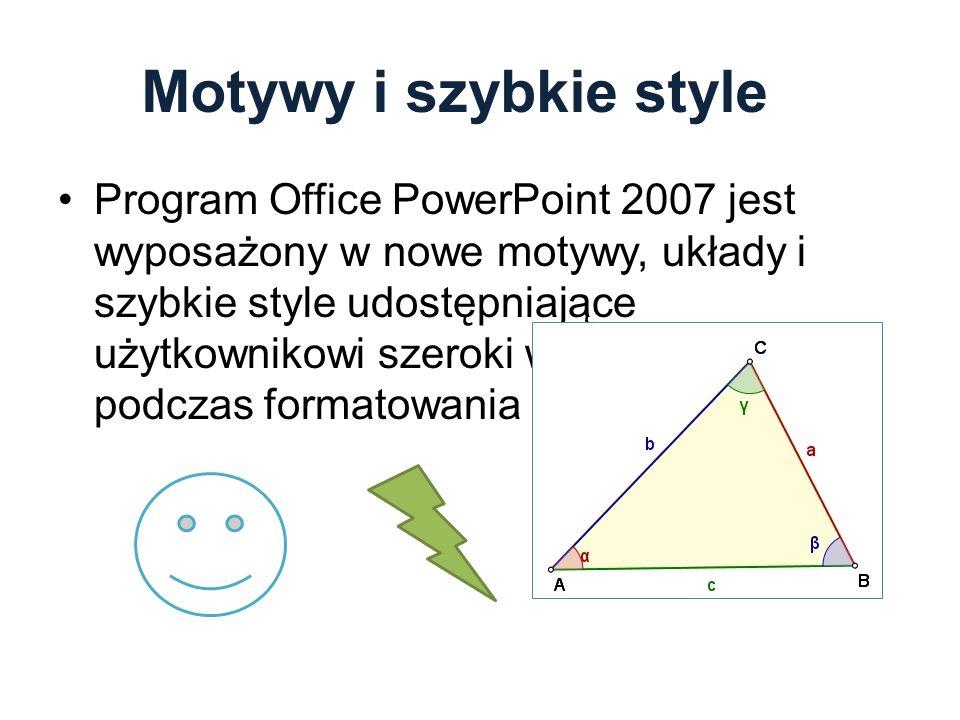Motywy i szybkie style