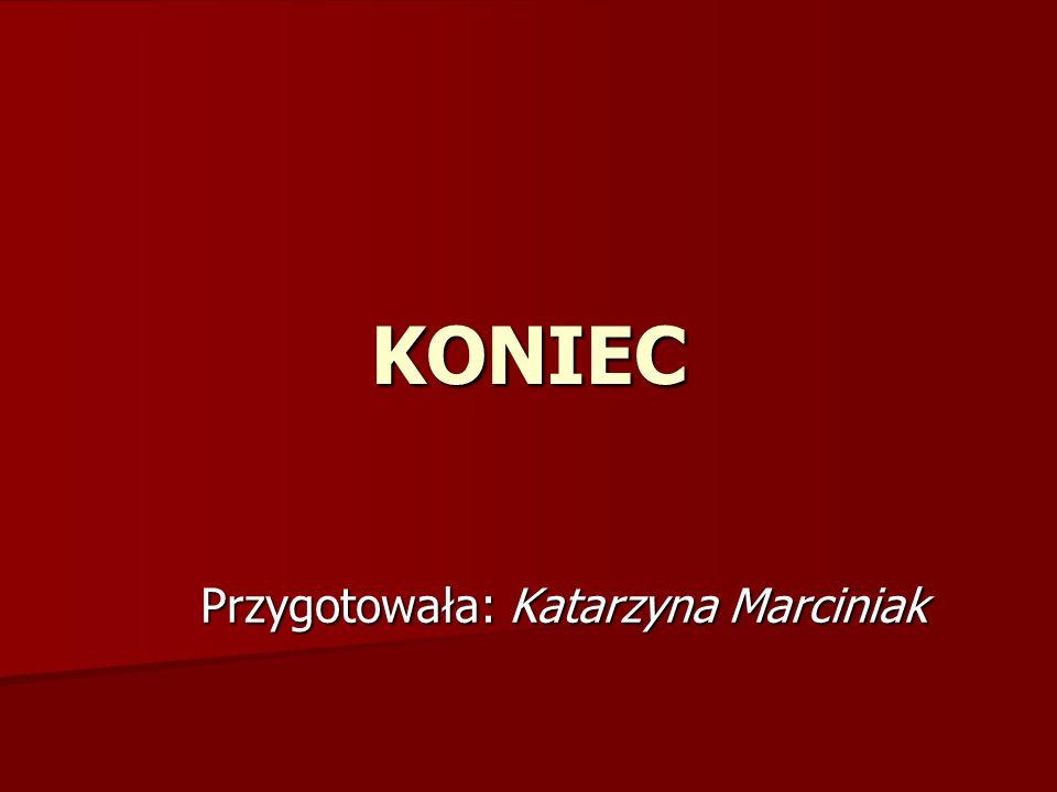 Przygotowała: Katarzyna Marciniak