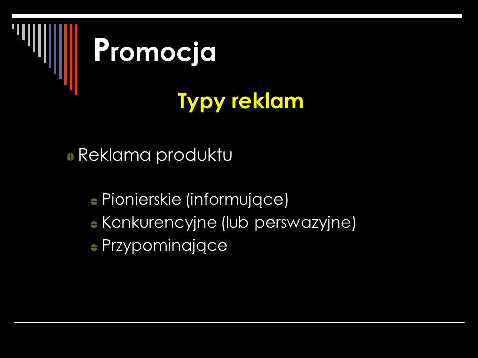 Promocja Typy reklam Reklama produktu Pionierskie (informujące)