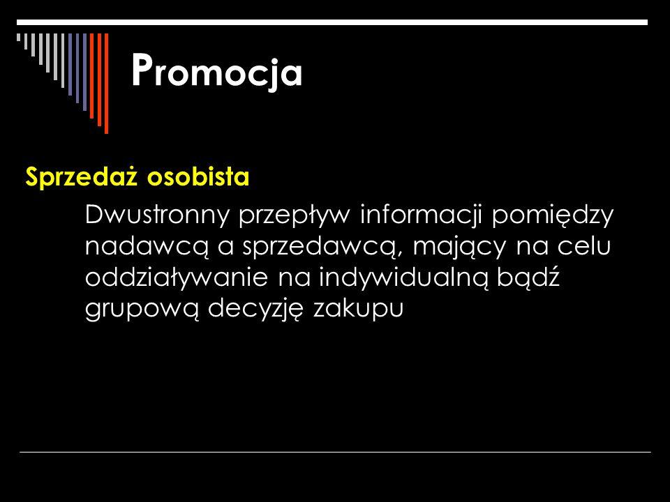 Promocja Sprzedaż osobista