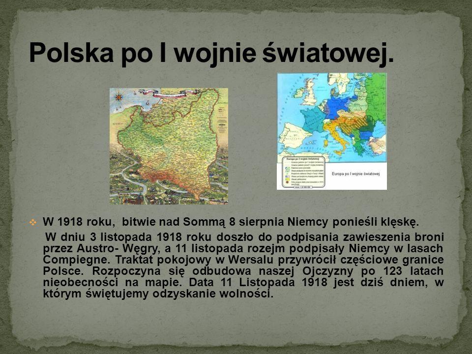 Polska po I wojnie światowej.