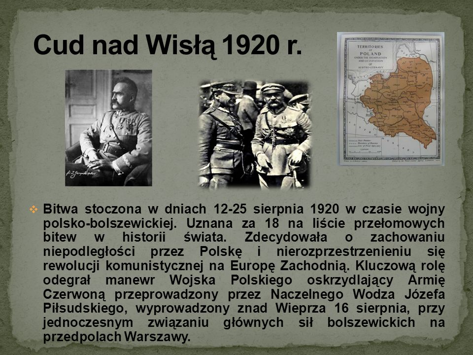 Cud nad Wisłą 1920 r.