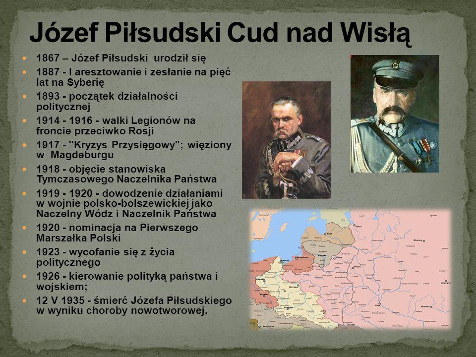 Józef Piłsudski Cud nad Wisłą