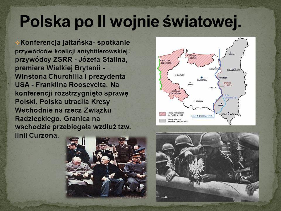 Polska po II wojnie światowej.