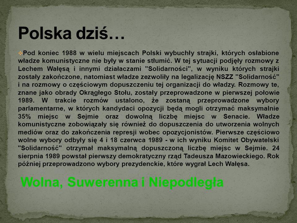 Polska dziś… Wolna, Suwerenna i Niepodległa