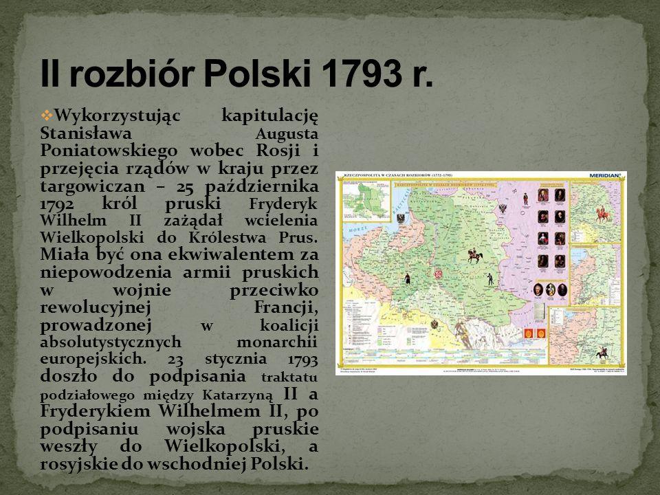 II rozbiór Polski 1793 r.