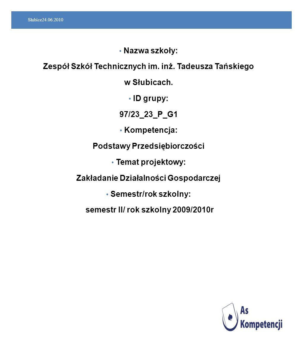Zespół Szkół Technicznych im. inż. Tadeusza Tańskiego w Słubicach.