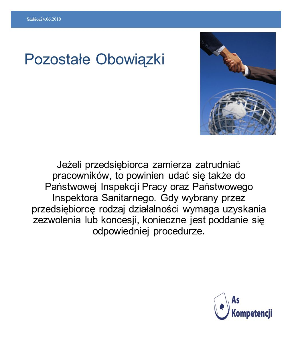 Słubice24.06.2010 Pozostałe Obowiązki.