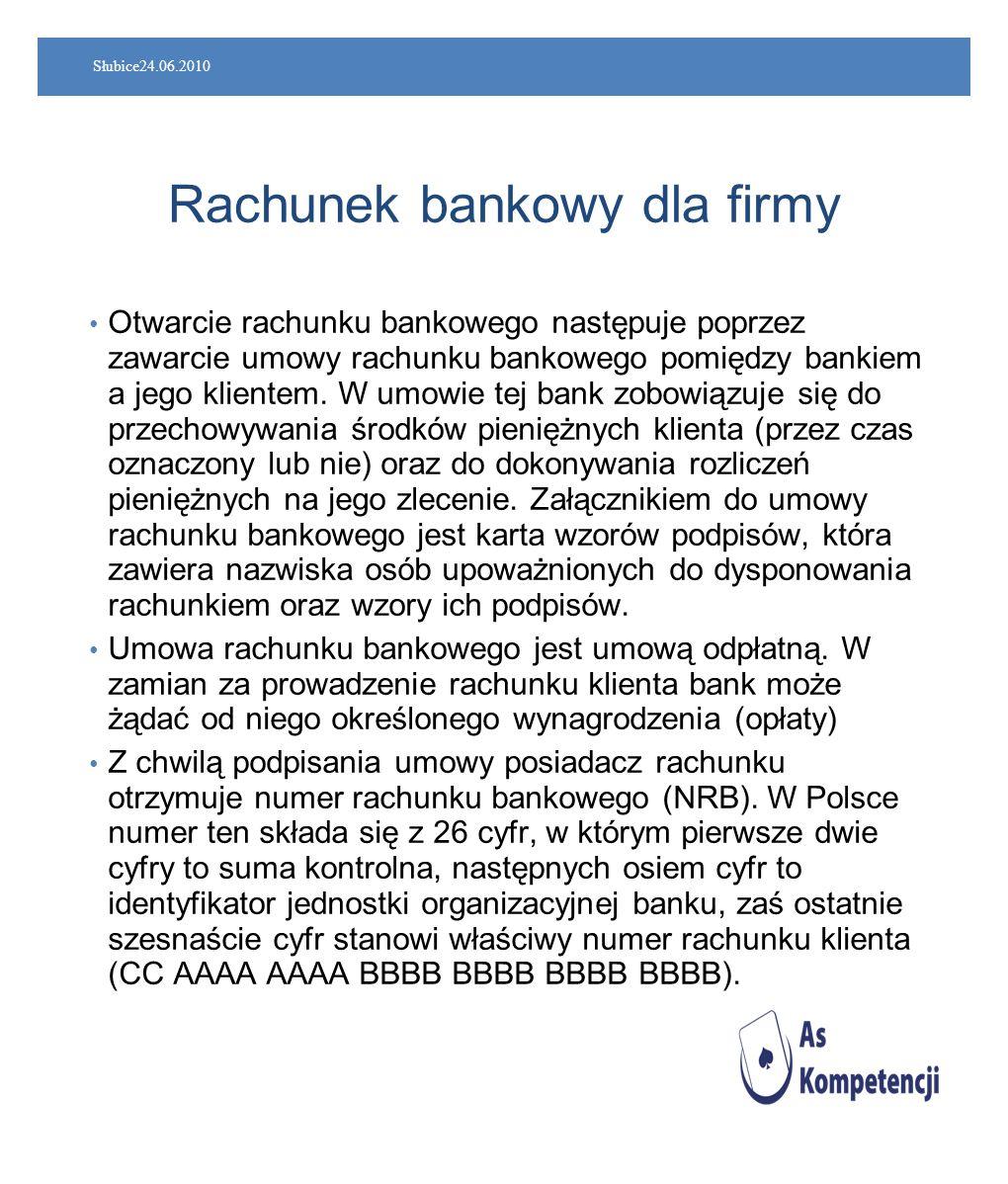 Rachunek bankowy dla firmy