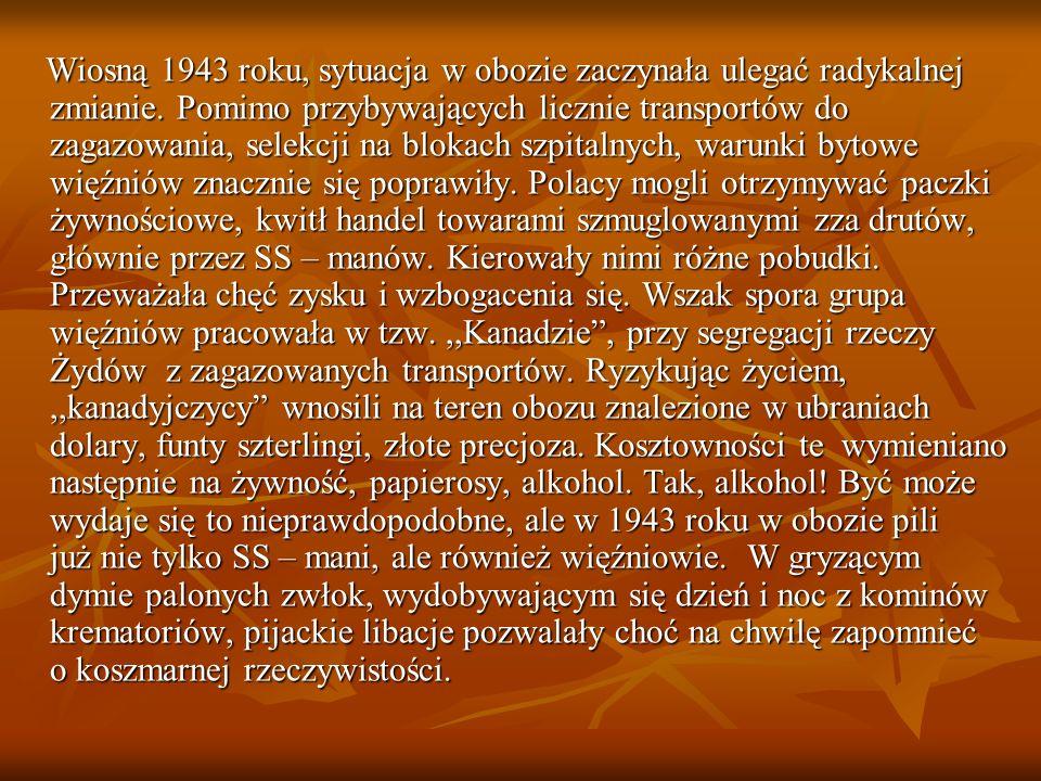 Wiosną 1943 roku, sytuacja w obozie zaczynała ulegać radykalnej zmianie.