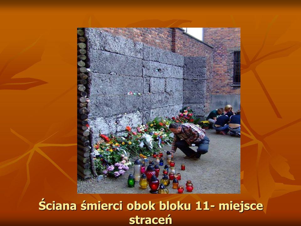 Ściana śmierci obok bloku 11- miejsce straceń
