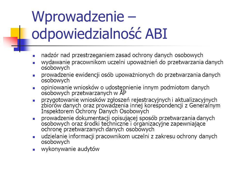 Wprowadzenie – odpowiedzialność ABI