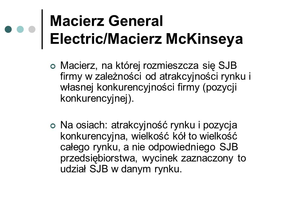 Macierz General Electric/Macierz McKinseya