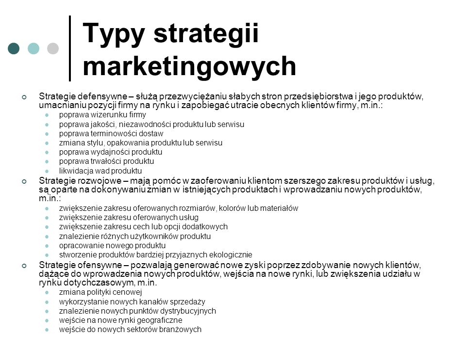 Typy strategii marketingowych