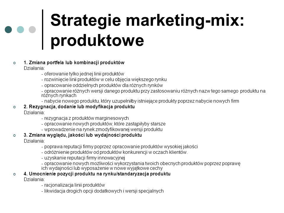 Strategie marketing-mix: produktowe