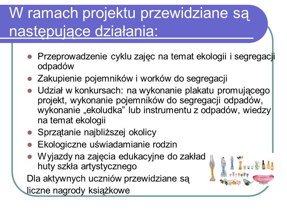 W ramach projektu przewidziane są następujące działania:
