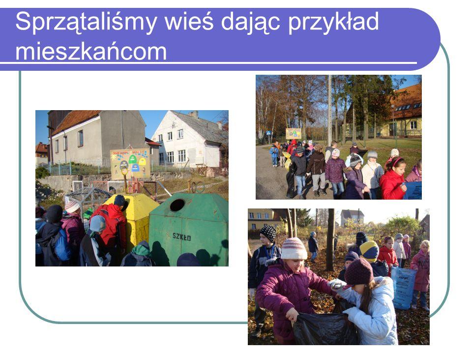 Sprzątaliśmy wieś dając przykład mieszkańcom