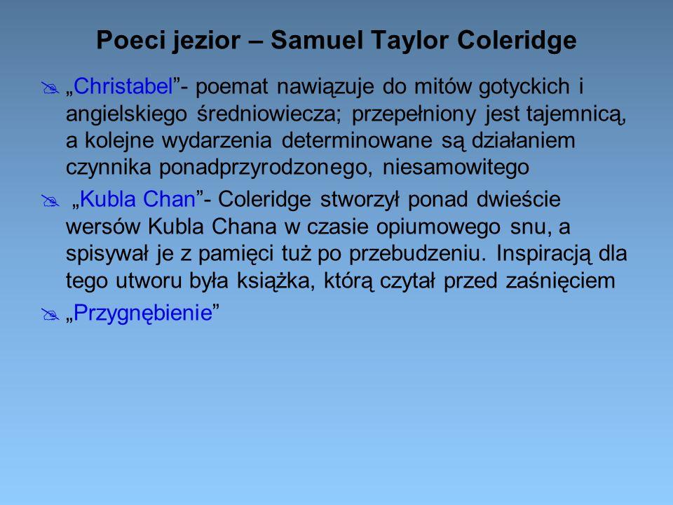 Poeci jezior – Samuel Taylor Coleridge
