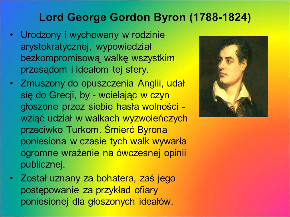 Lord George Gordon Byron (1788-1824)
