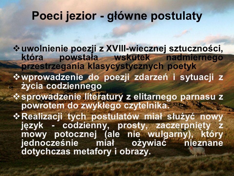 Poeci jezior - główne postulaty