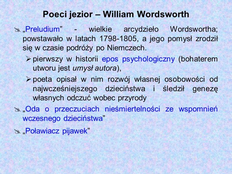 Poeci jezior – William Wordsworth
