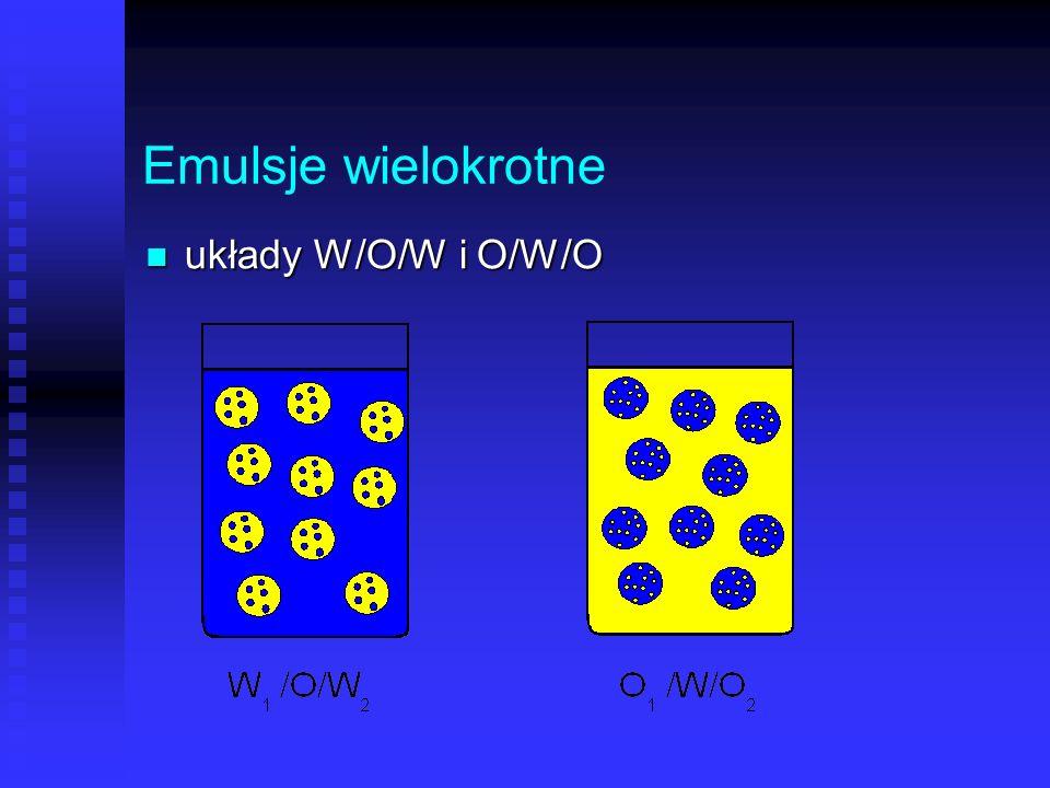 Emulsje wielokrotne układy W/O/W i O/W/O 42