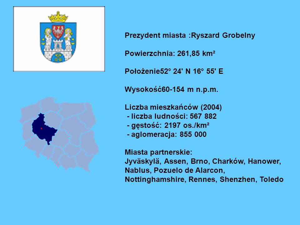 Prezydent miasta :Ryszard Grobelny
