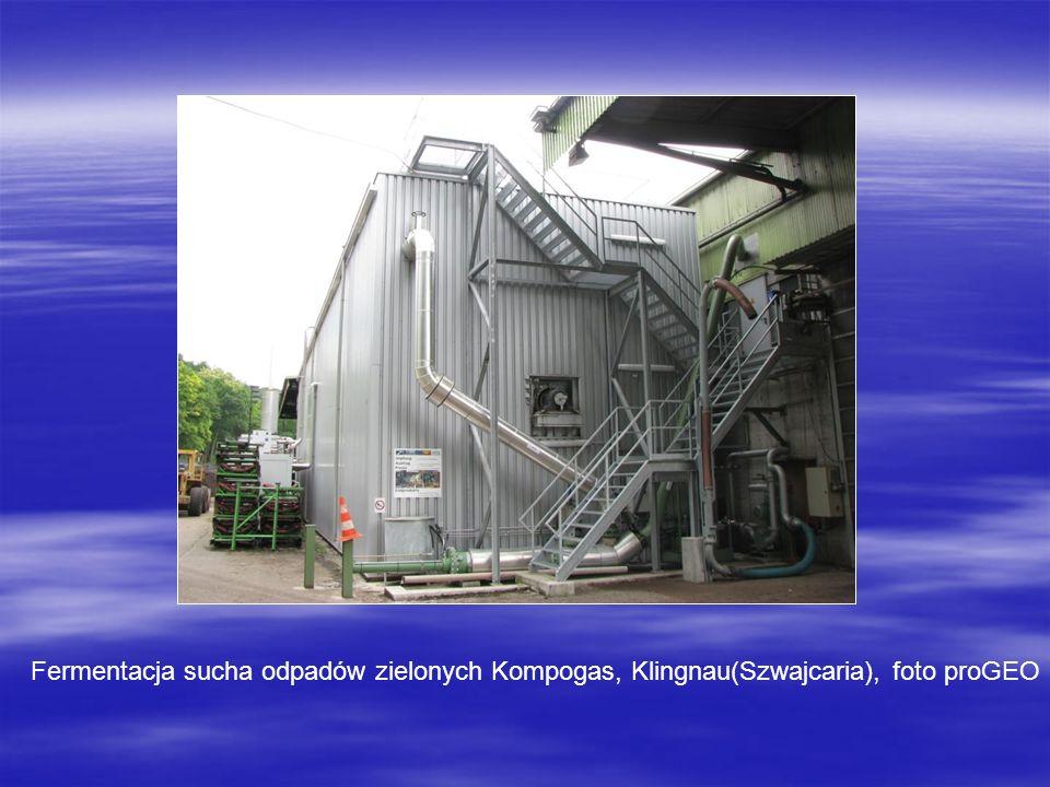 Fermentacja sucha odpadów zielonych Kompogas, Klingnau(Szwajcaria), foto proGEO