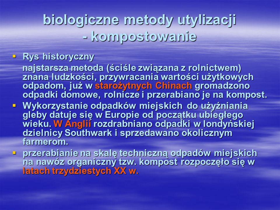 biologiczne metody utylizacji - kompostowanie