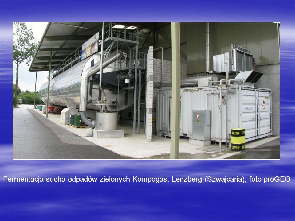 Fermentacja sucha odpadów zielonych Kompogas, Lenzberg (Szwajcaria), foto proGEO