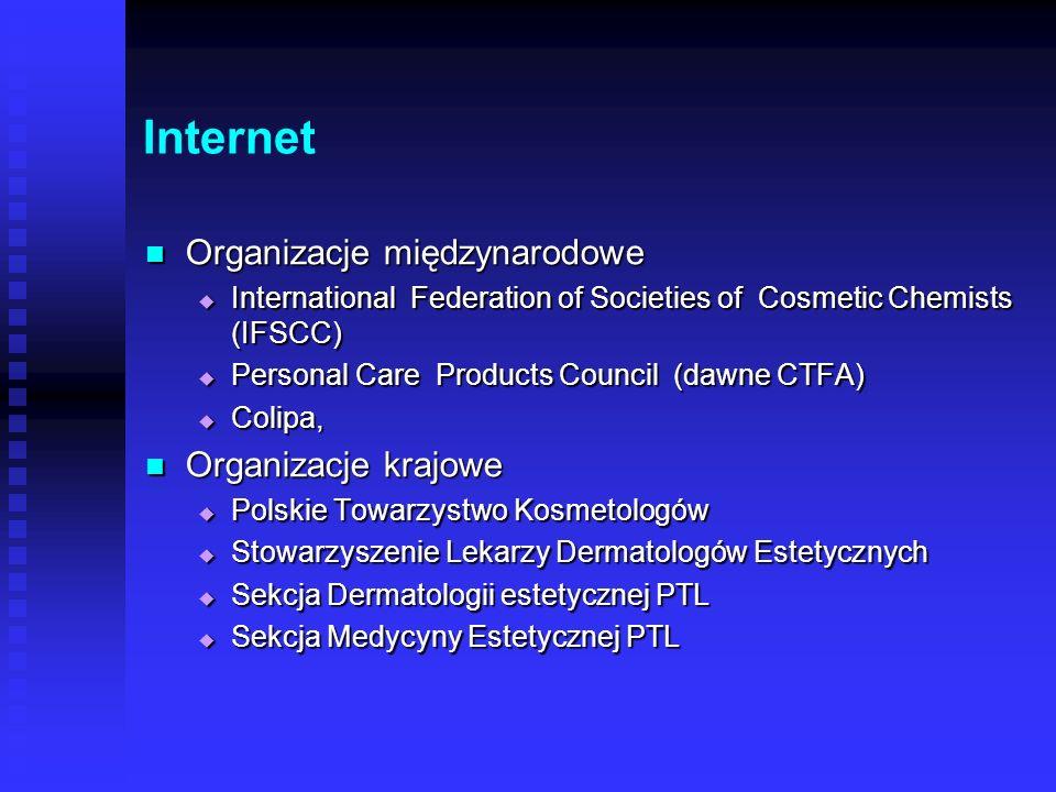 Internet Organizacje międzynarodowe Organizacje krajowe