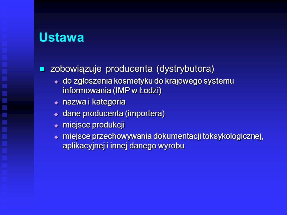 Ustawa zobowiązuje producenta (dystrybutora)