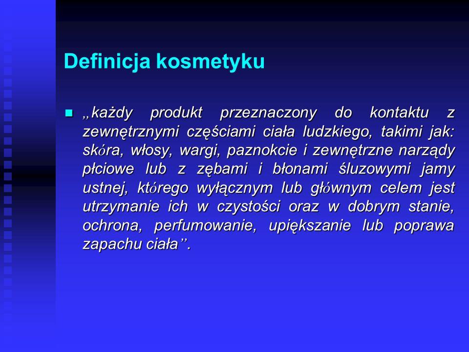Definicja kosmetyku