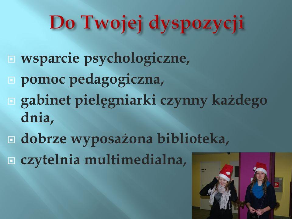 Do Twojej dyspozycji wsparcie psychologiczne, pomoc pedagogiczna,