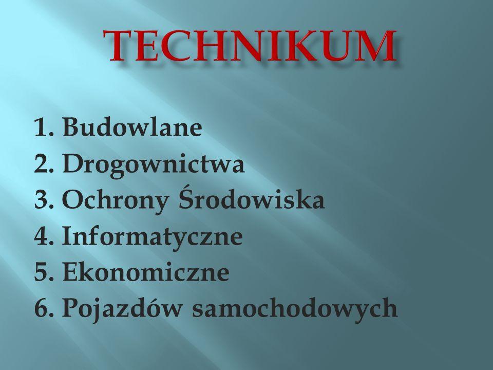 Technikum 1. Budowlane 2. Drogownictwa 3. Ochrony Środowiska